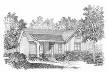 Cottage Exterior - Front Elevation Plan #22-566