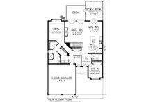 European Floor Plan - Main Floor Plan Plan #70-1161