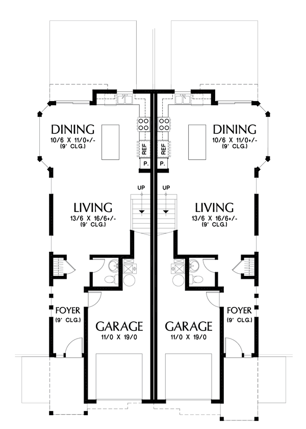 Craftsman Floor Plan - Main Floor Plan Plan #48-1017