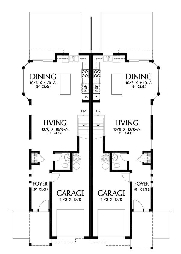 Craftsman Floor Plan - Main Floor Plan #48-1017
