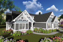 Ranch Exterior - Front Elevation Plan #70-1248