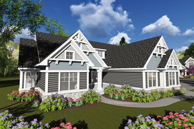 Ranch Exterior - Front Elevation Plan #70-1248 - Houseplans.com