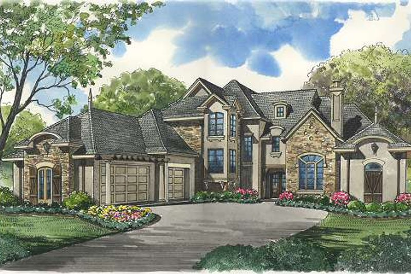 European Exterior - Front Elevation Plan #61-144 - Houseplans.com