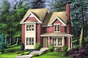 Farmhouse Style House Plan - 3 Beds 1.5 Baths 1570 Sq/Ft Plan #25-265 Exterior - Front Elevation