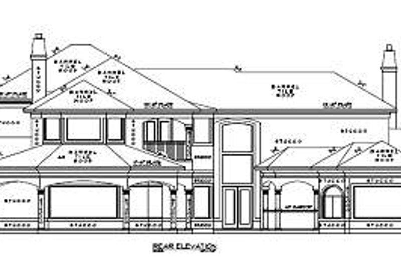 Mediterranean Exterior - Rear Elevation Plan #61-156 - Houseplans.com