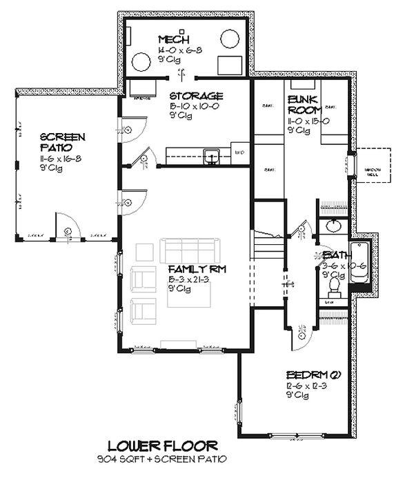 Cottage Style House Plan - 3 Beds 2.5 Baths 2299 Sq/Ft Plan #901-7 Floor Plan - Upper Floor Plan