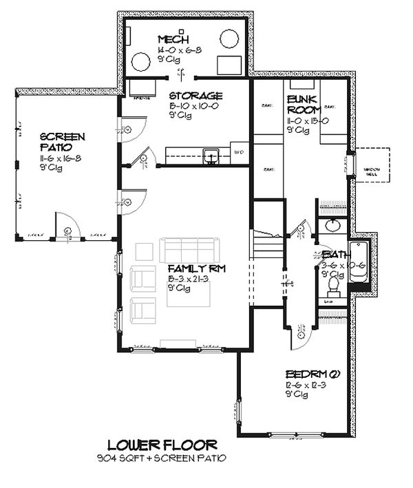 Cottage style house plan Country designed floor plan