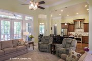 European Style House Plan - 4 Beds 3 Baths 2812 Sq/Ft Plan #929-877 Interior - Family Room