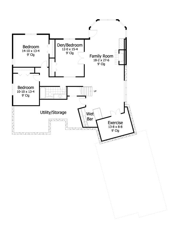 European Floor Plan - Lower Floor Plan #51-480