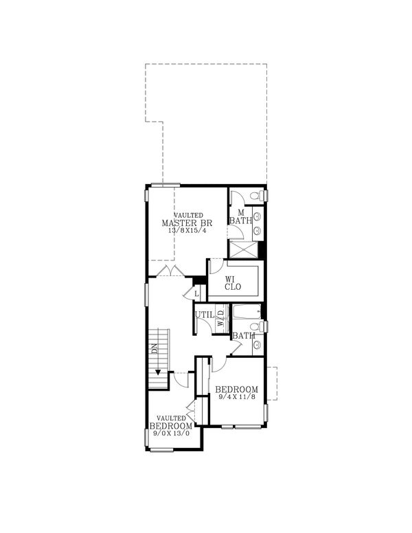 Contemporary Floor Plan - Upper Floor Plan Plan #53-618