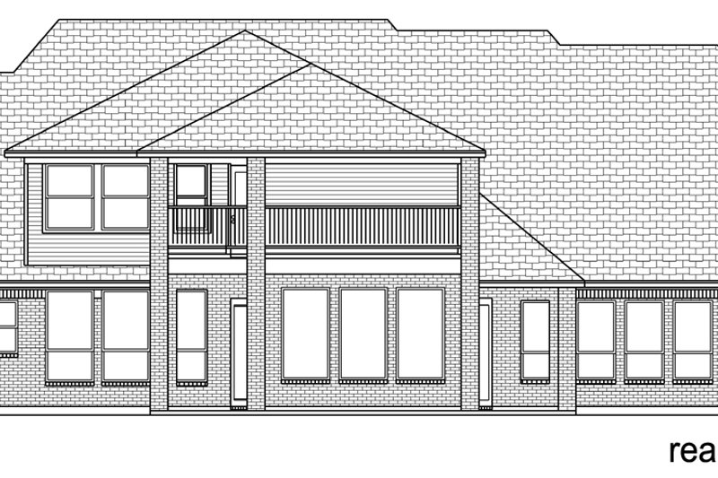 European Exterior - Rear Elevation Plan #84-618 - Houseplans.com