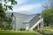 Country Style House Plan - 0 Beds 2 Baths 655 Sq/Ft Plan #1-101 Exterior - Rear Elevation