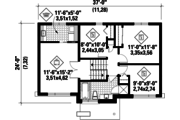 Contemporary Style House Plan - 3 Beds 1 Baths 1426 Sq/Ft Plan #25-4298 Floor Plan - Upper Floor
