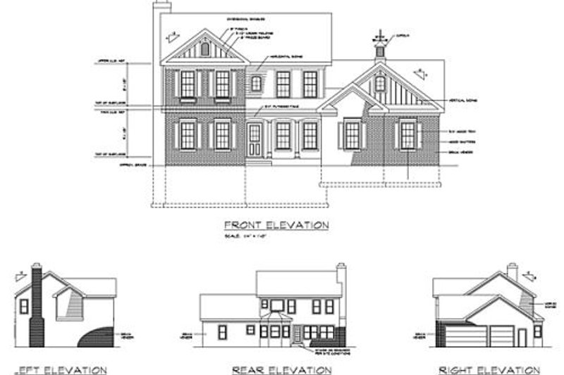 Southern Exterior - Rear Elevation Plan #56-237 - Houseplans.com