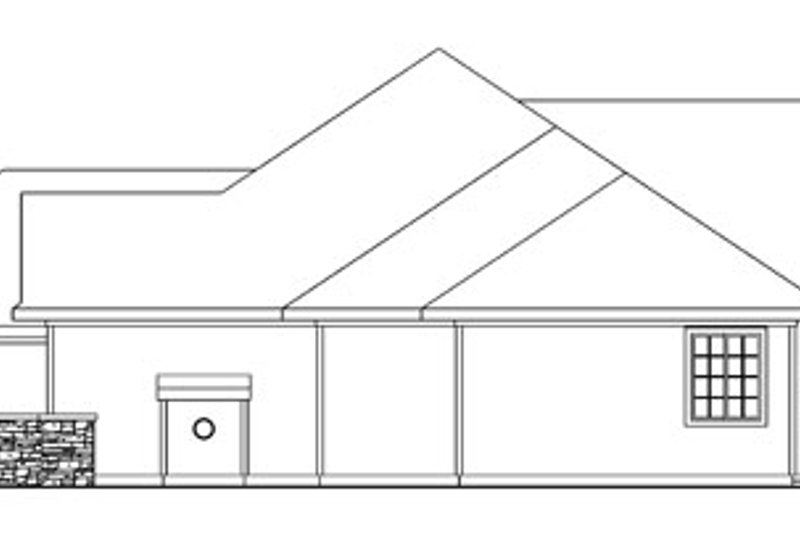 Ranch Exterior - Other Elevation Plan #124-744 - Houseplans.com