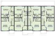 European Style House Plan - 2 Beds 2.5 Baths 1510 Sq/Ft Plan #17-2525 Floor Plan - Upper Floor Plan