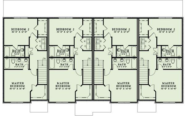 European Floor Plan - Upper Floor Plan Plan #17-2525