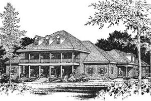 Southern Exterior - Front Elevation Plan #15-238