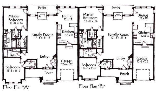 Craftsman Floor Plan - Main Floor Plan Plan #921-18