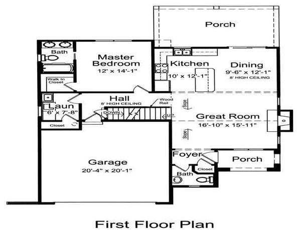 Cottage Floor Plan - Main Floor Plan Plan #46-498