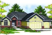 Traditional Style House Plan - 4 Beds 3 Baths 2524 Sq/Ft Plan #70-687 Exterior - Front Elevation