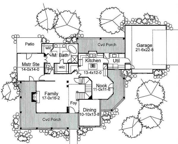 Traditional Floor Plan - Main Floor Plan Plan #120-130