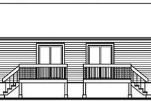 Colonial Exterior - Rear Elevation Plan #23-678