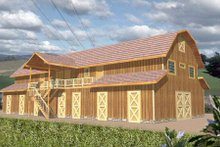 Country Exterior - Front Elevation Plan #117-252
