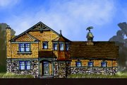 Craftsman Style House Plan - 4 Beds 2.5 Baths 3193 Sq/Ft Plan #440-2 Exterior - Front Elevation