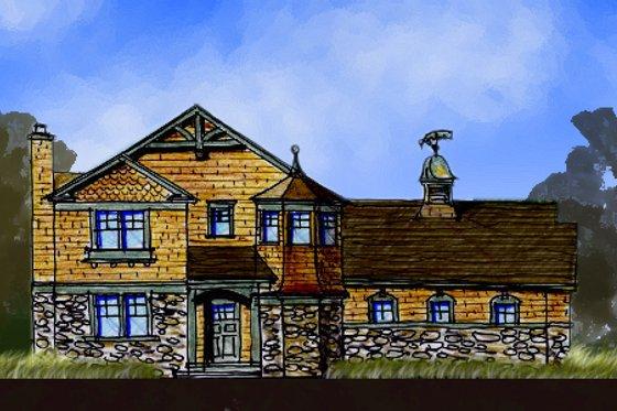Craftsman Exterior - Front Elevation Plan #440-2