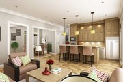 Southern Style House Plan - 3 Beds 3 Baths 1792 Sq/Ft Plan #45-572 Interior - Family Room