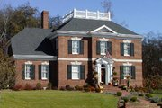 Colonial Style House Plan - 4 Beds 3 Baths 3345 Sq/Ft Plan #137-108 Exterior - Front Elevation