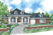 Colonial Exterior - Front Elevation Plan #930-287