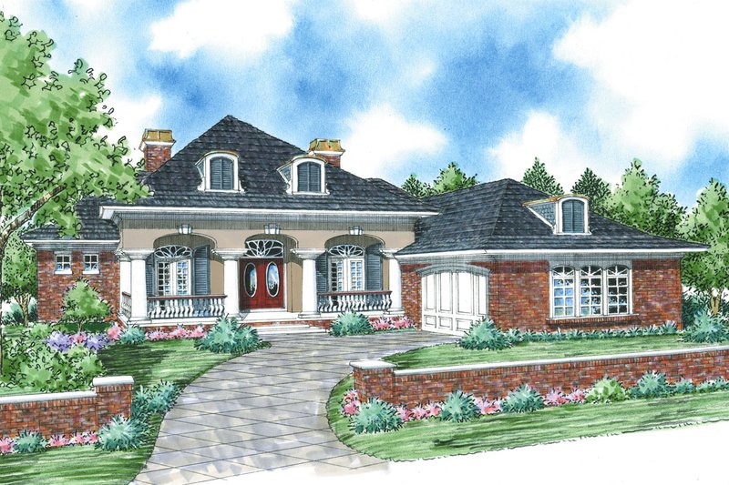 House Plan Design - Colonial Exterior - Front Elevation Plan #930-287
