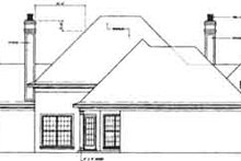 House Plan Design - European Exterior - Rear Elevation Plan #45-135