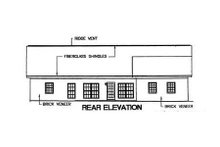 House Design - Southern Exterior - Rear Elevation Plan #44-106
