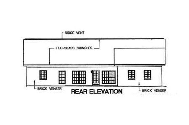 Southern Exterior - Rear Elevation Plan #44-106 - Houseplans.com