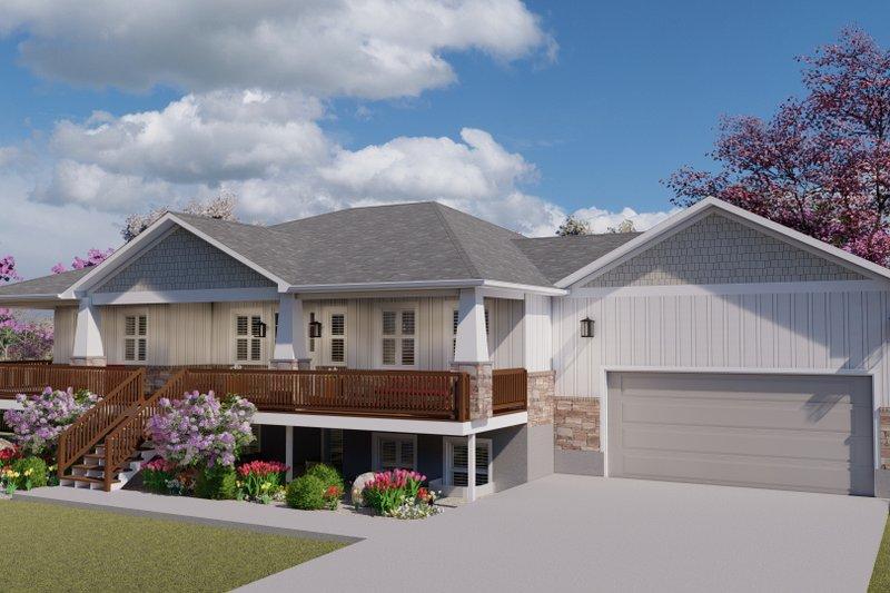 House Plan Design - Craftsman Exterior - Front Elevation Plan #1060-106