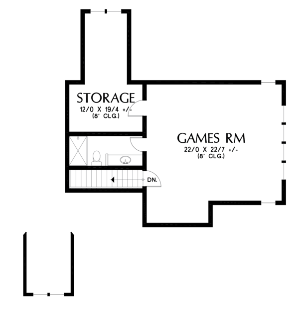Craftsman Floor Plan - Upper Floor Plan #48-681