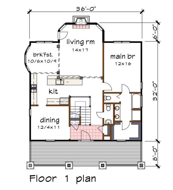 Dream House Plan - Craftsman Floor Plan - Main Floor Plan #79-234