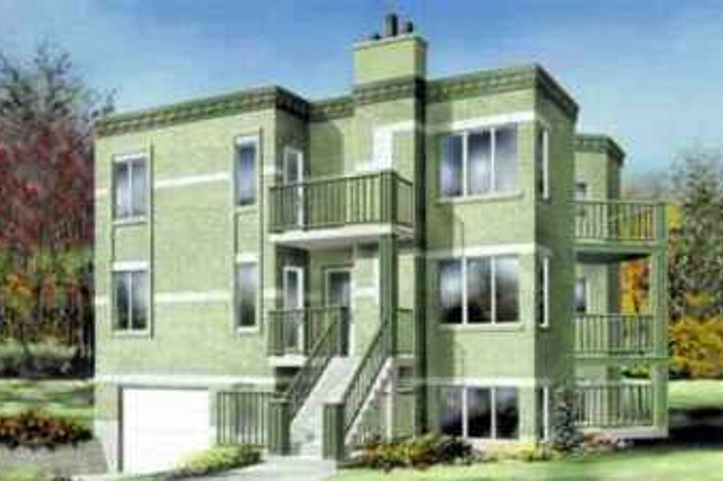 Traditional Style House Plan - 2 Beds 1 Baths 3411 Sq/Ft Plan #25-348 Exterior - Front Elevation
