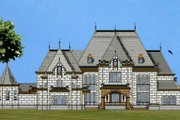 European Style House Plan - 7 Beds 7.5 Baths 13616 Sq/Ft Plan #119-354 Exterior - Front Elevation
