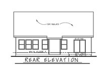Cottage Exterior - Rear Elevation Plan #20-2391