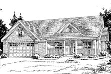 Home Plan - Traditional Exterior - Front Elevation Plan #20-379
