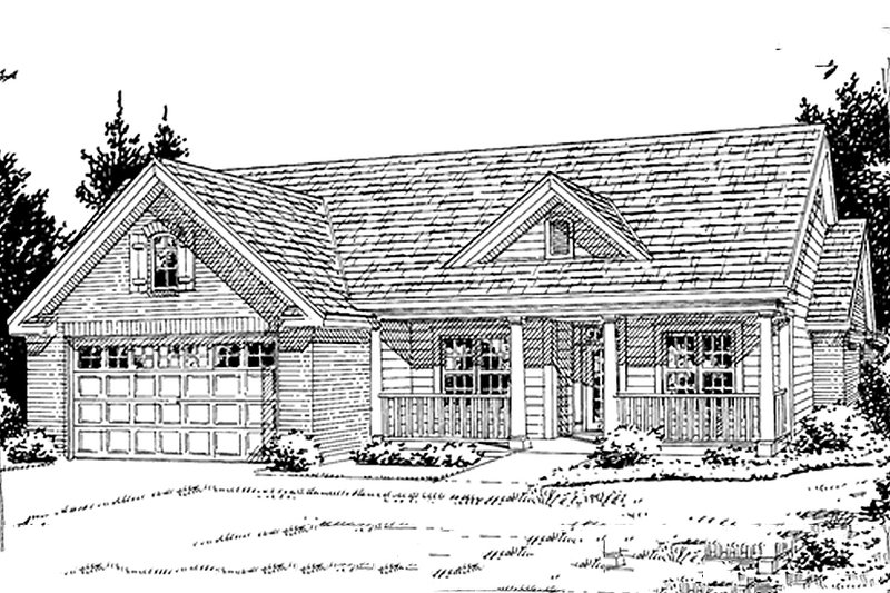 Traditional Exterior - Front Elevation Plan #20-379 - Houseplans.com