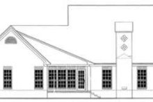 European Exterior - Rear Elevation Plan #406-240