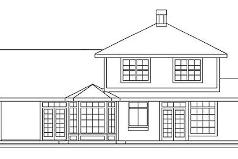 Traditional Exterior - Rear Elevation Plan #60-149 - Houseplans.com