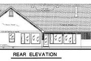 Traditional Style House Plan - 4 Beds 3 Baths 2630 Sq/Ft Plan #18-1059 Exterior - Rear Elevation