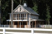 Country Style House Plan - 2 Beds 2 Baths 1150 Sq/Ft Plan #464-16 Exterior - Front Elevation