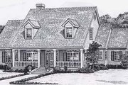Colonial Style House Plan - 4 Beds 4 Baths 3105 Sq/Ft Plan #310-918 Exterior - Front Elevation